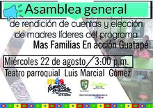 Asamblea general de rendición de cuentas y elección de madres líderes del programa Mas Familias En acción Guatapé