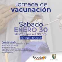 Jornada Nacional de vacunación.