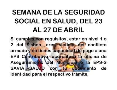 Semana De La Seguridad Social En Salud
