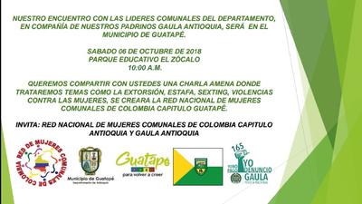 Encuentro con líderes comunales del departamento de Antioquia y el Gaula de la Policía Nacional