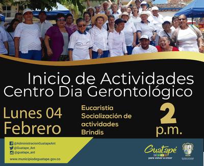 Inicio de actividades del Centro Día Gerontológico.