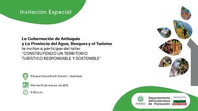 """Taller """"CONSTRUYENDO UN TERRITORIO TURÍSTICO RESPONSABLE Y SOSTENIBLE"""""""