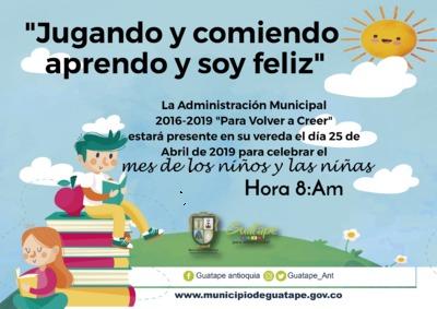 Celebración día del  niño  Zona rural
