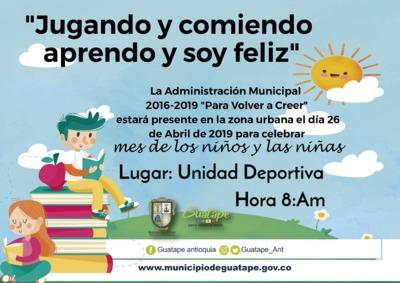 celebración día del niño  Zona Urbana