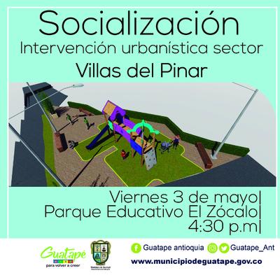 Socialización sobre la nueva intervención urbanística que se realizará en el sector de Villas del Pinar