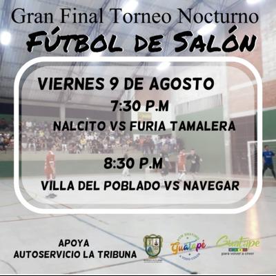 Final torneo  nocturno de Fútbol de Salon