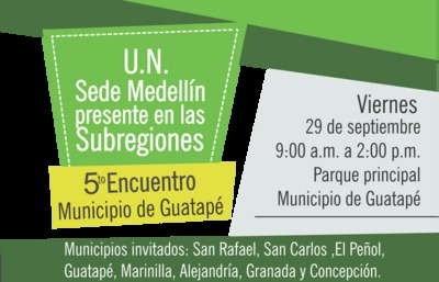 Universidad Nacional  presente en las subregiones