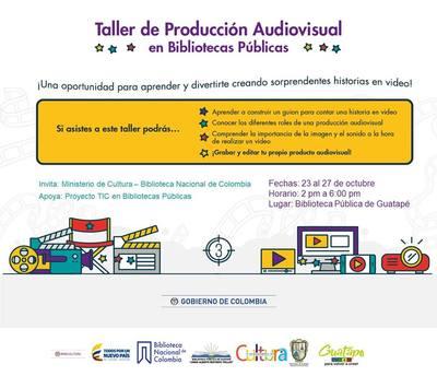 Taller de Producción Audiovisual en bibliotecas publicas