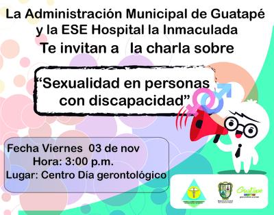 """Charla """"Sexualidad en personas con discapacidad"""""""