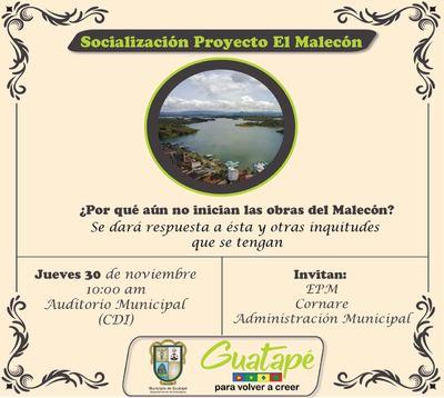 Socialización proyecto  el  Malecón
