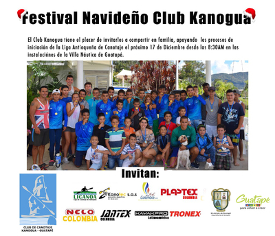 Festival Navideño canotaje Club Kanogua