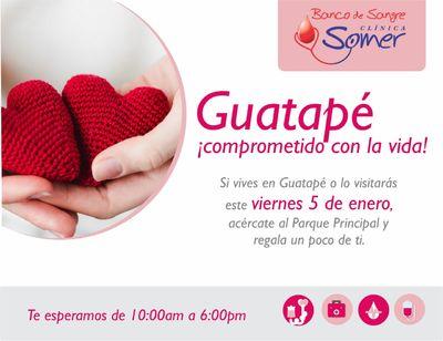 Guatapé, ¡comprometido con la Vida!  Jornada de donación de sangre.