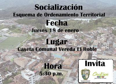 Socialización Esquema de Ordenamiento Territorial vereda El Roble