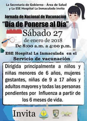 """Jornada de Nacional de Vacunación """"Día de Ponerse al Día"""""""