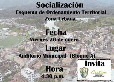 Socialización EOT, Esquema de Ordenamiento  Territorial  para la zona Urbana.