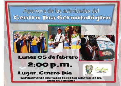 Apertura de las actividades del  centro día  gerontológico para el año  2018