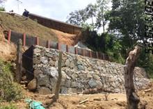 Obras de control de erosión.