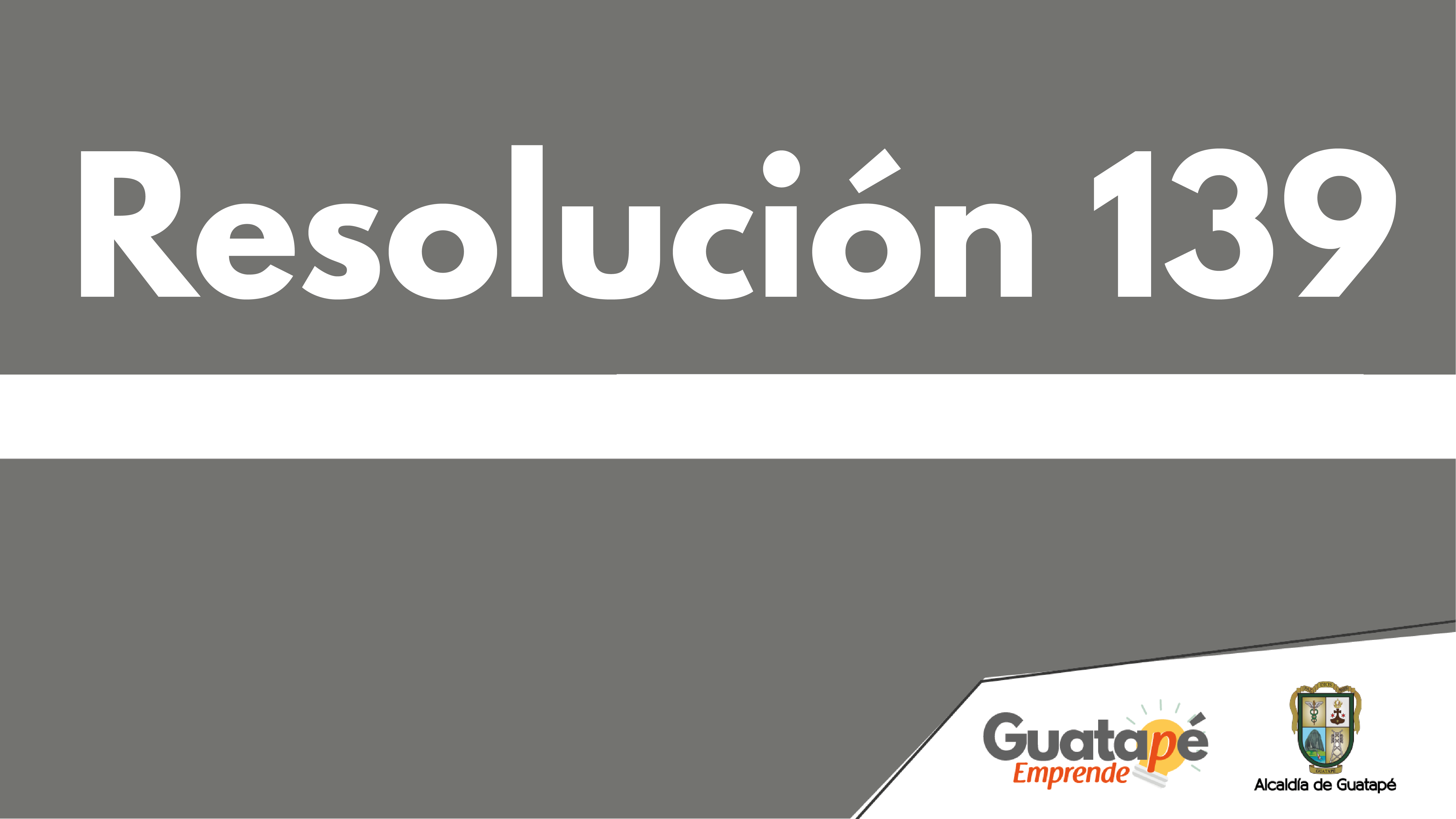 Resolución 139, 14 agosto  de 2020